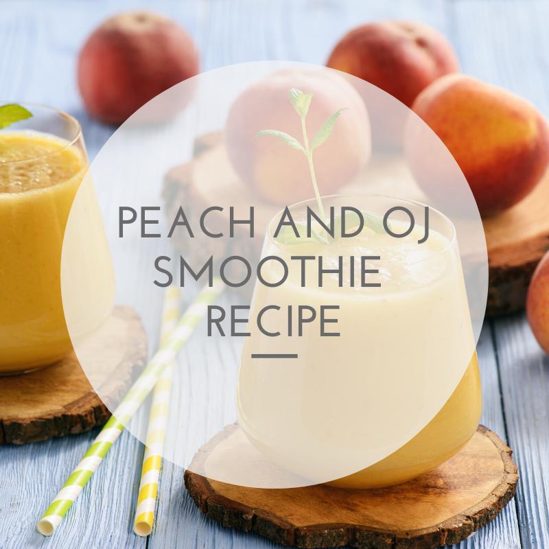 peach and oj smoothie recipe
