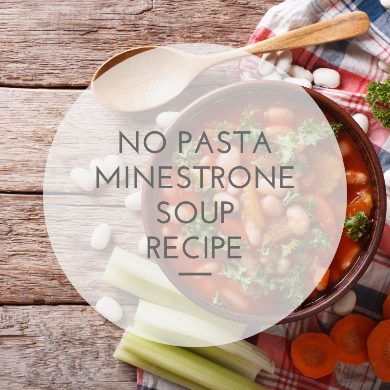 No Pasta Minestrone Soup (Crock Pot)