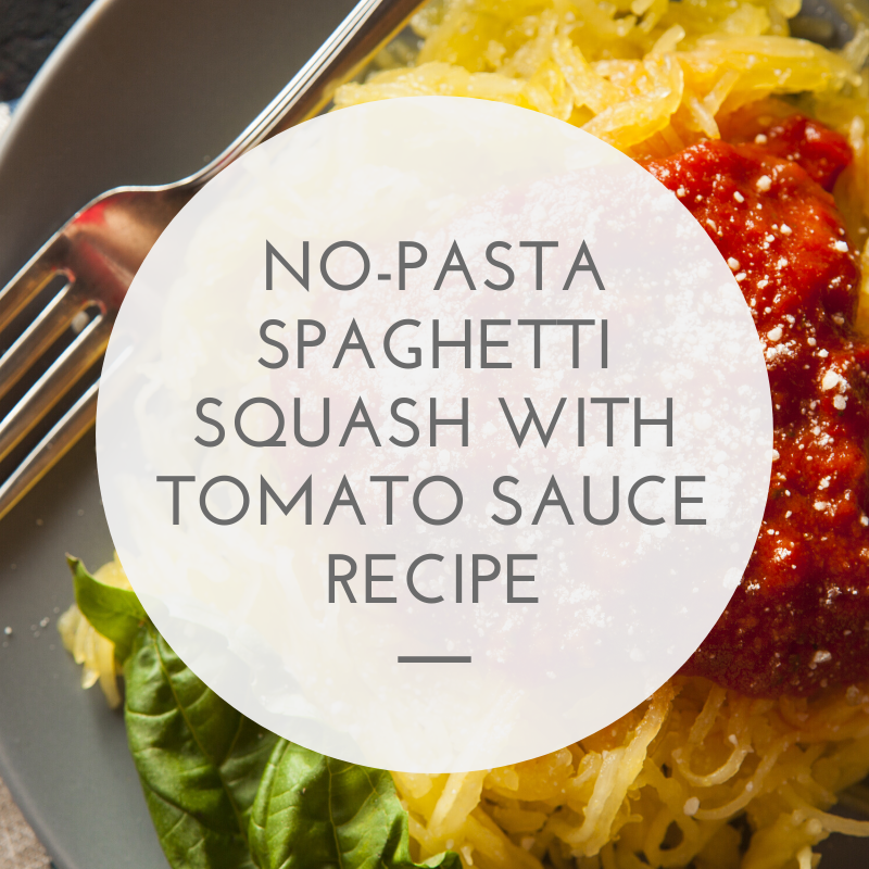 No-Pasta Spaghetti Squash with Tomato Sauce recipe