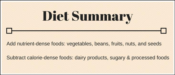 Lose 10 lbs Diet Summary