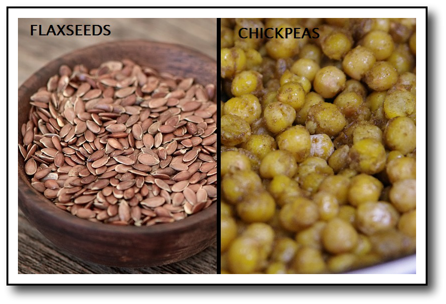 Diet for menopause hot flashes chickpeas and flax seeds