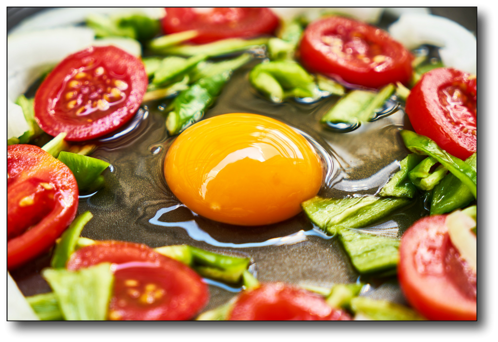 low-carb, high-fat food - egg cooking
