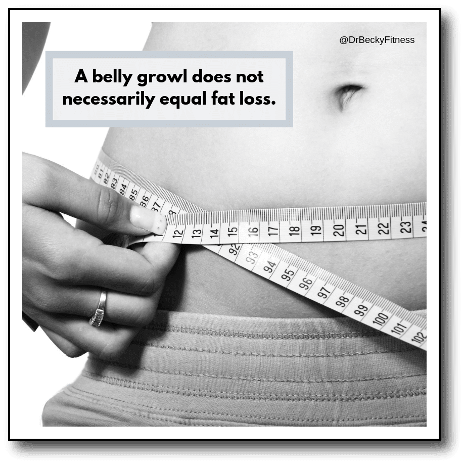 does a growling stomach mean weight loss