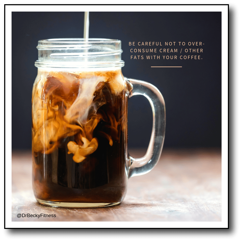 cream in coffee when fasting