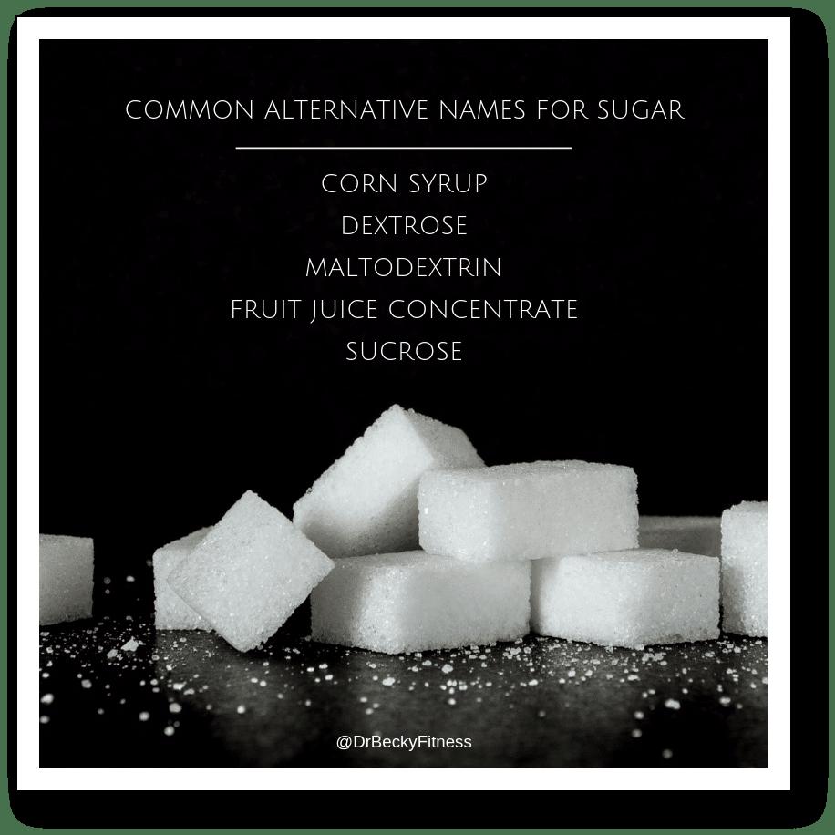 alternate names for sugar