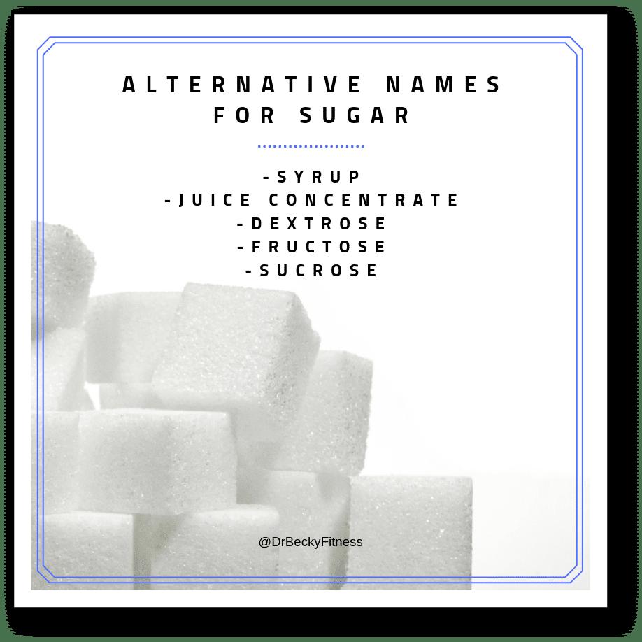 alternative names for sugar