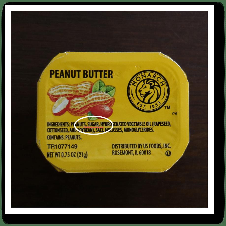 hidden sugar in peanut butter