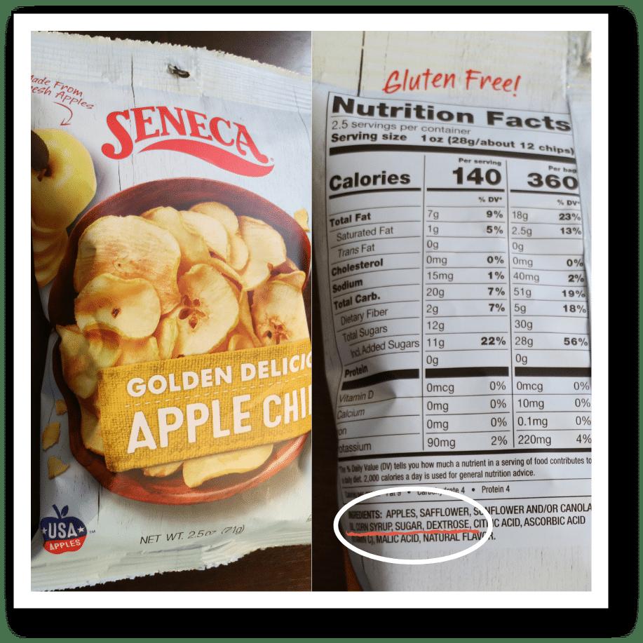 hidden sugar in snack foods