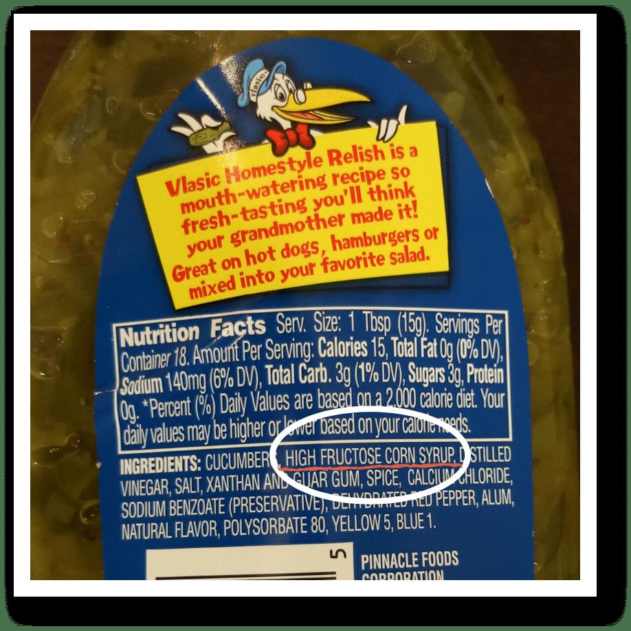 hidden sugar in condiments