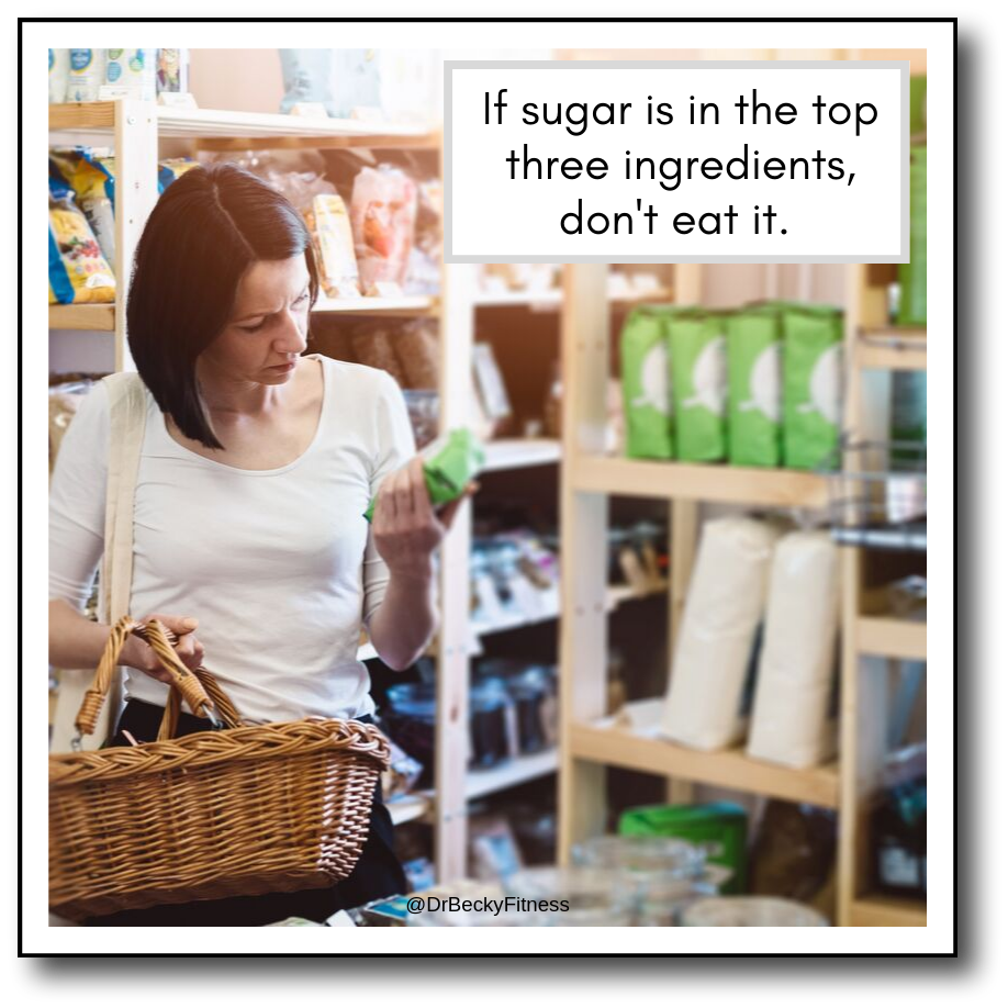 Dr. Becky's rule for eating sugar