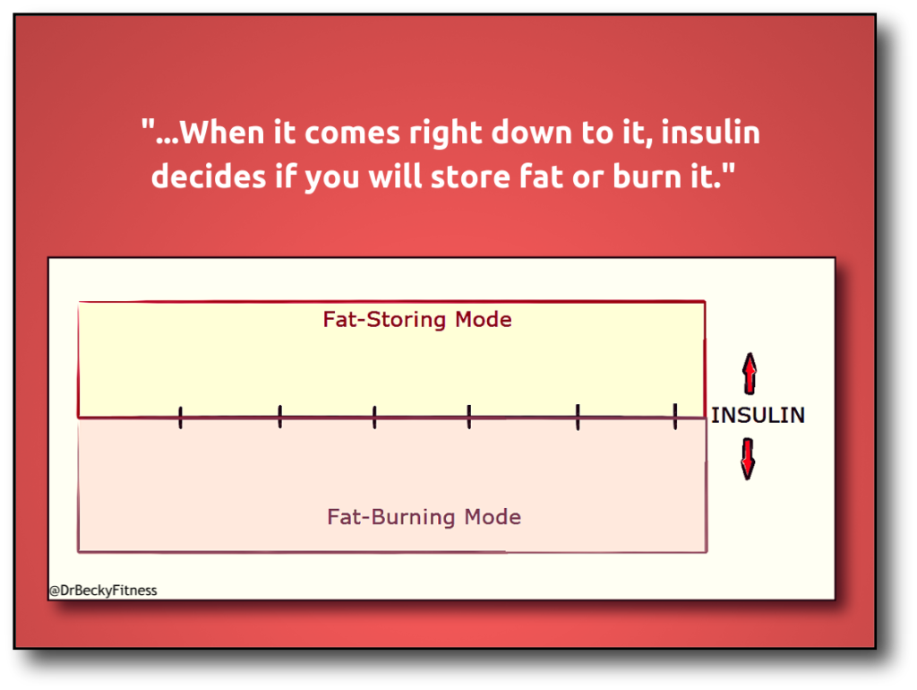 insulin fat burning chart