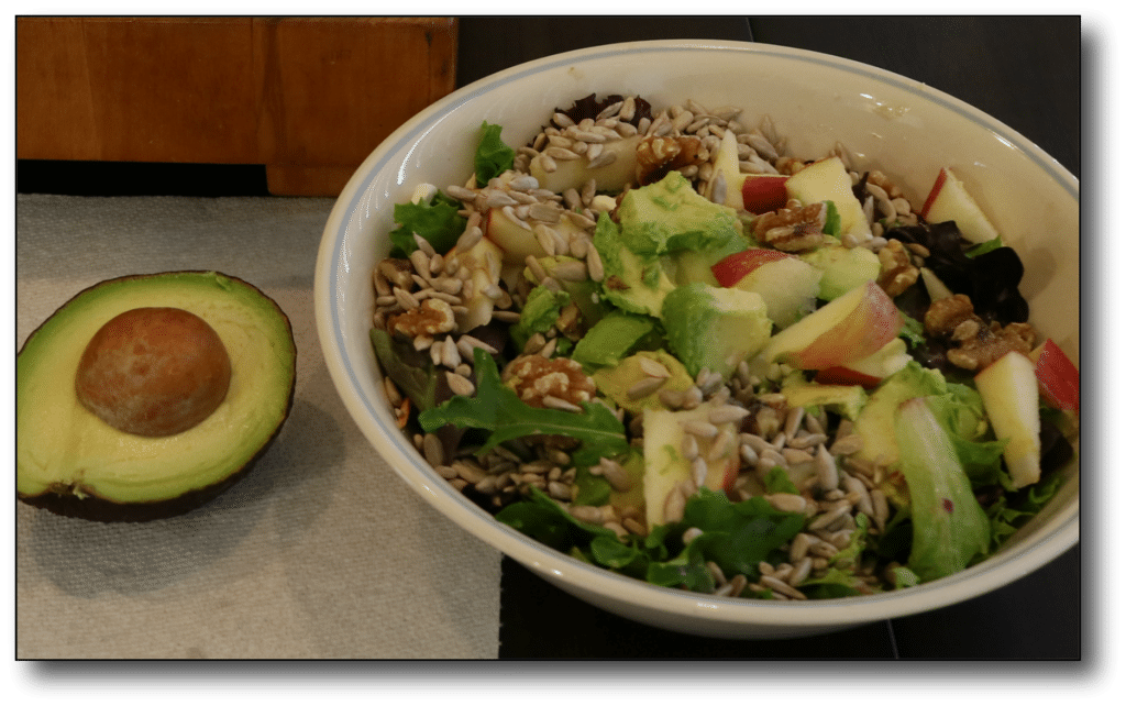 high fat and protein salad