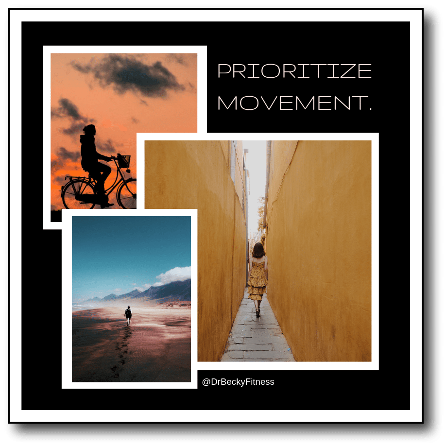 prioritize movement on vacation for weight control