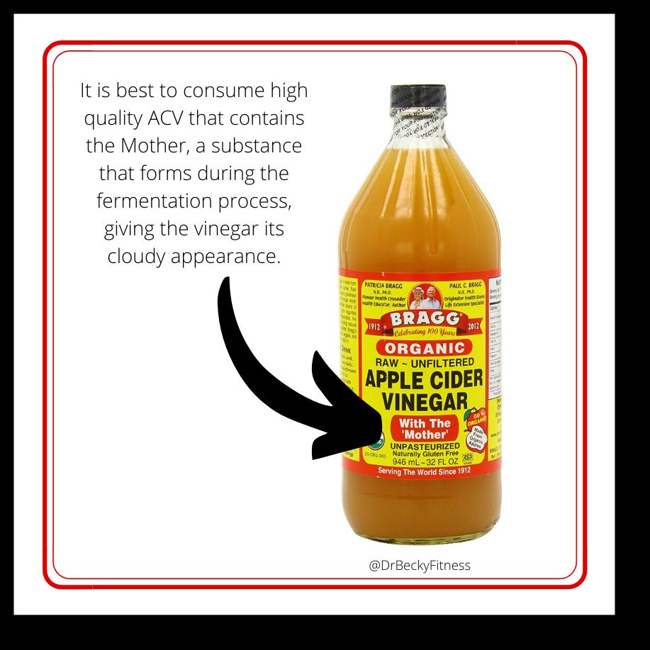 Health benefits of apple cider vinegar mother