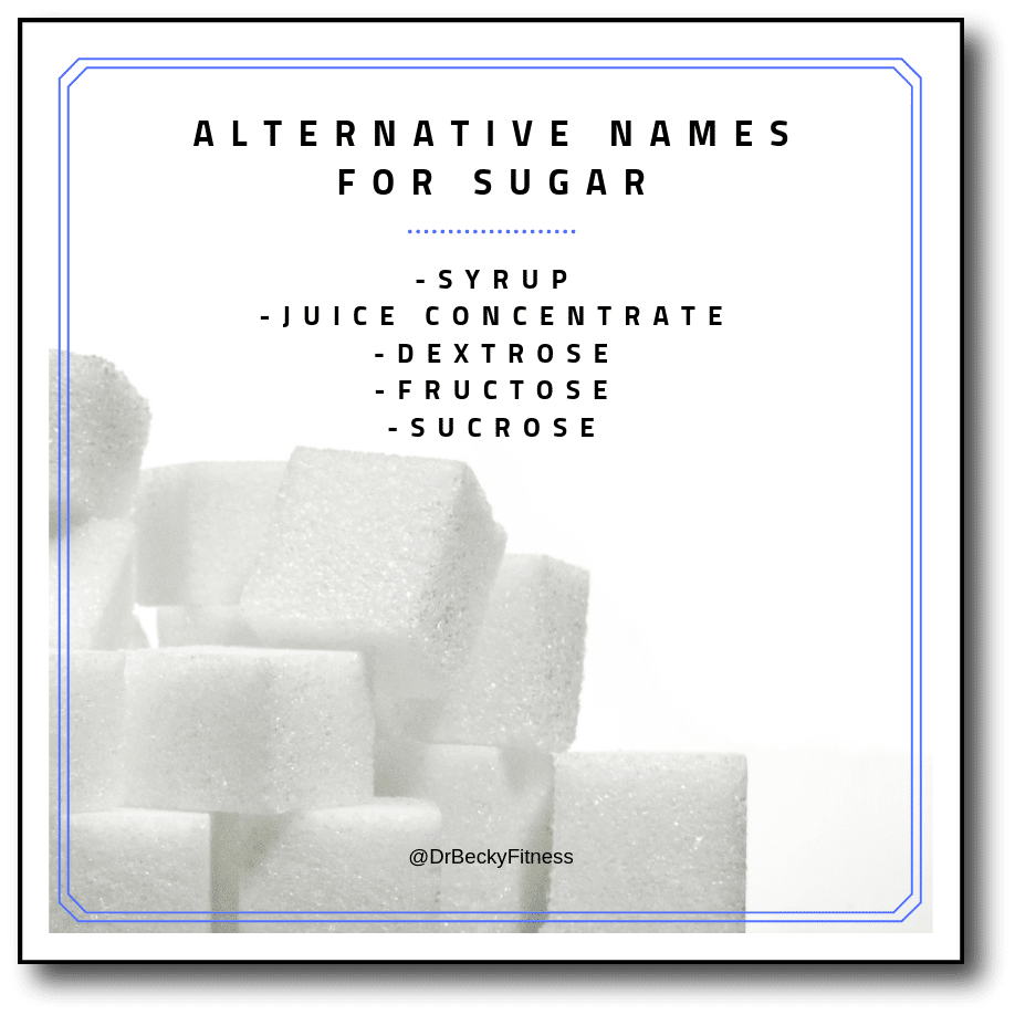 alternative names for sugar