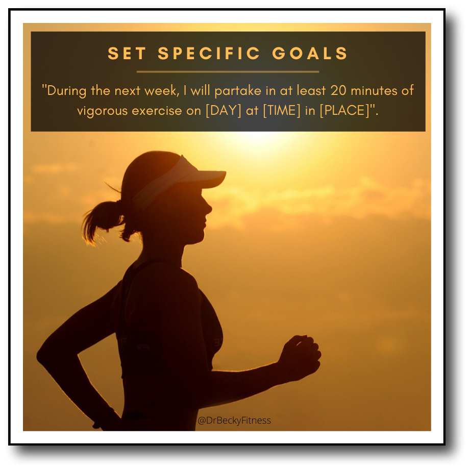 set specific goals to increase habits