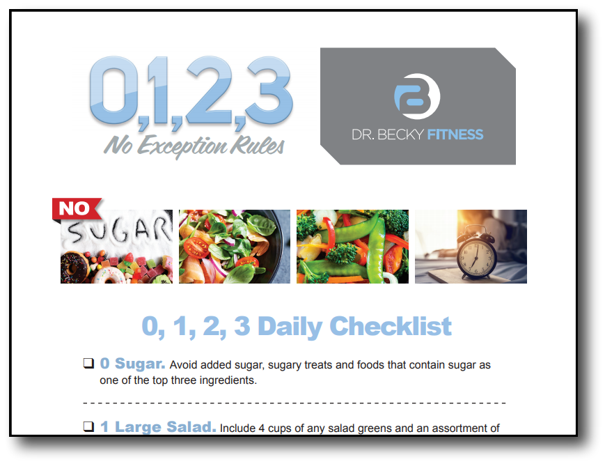 Dr. Becky's 0123 Checklist