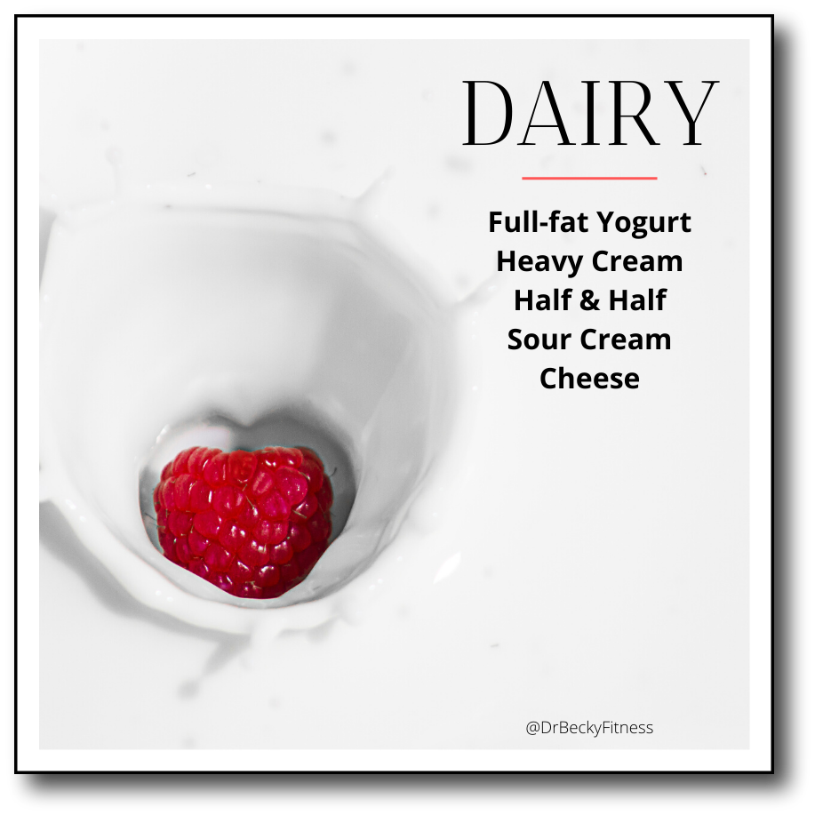 low-carb dairy food list