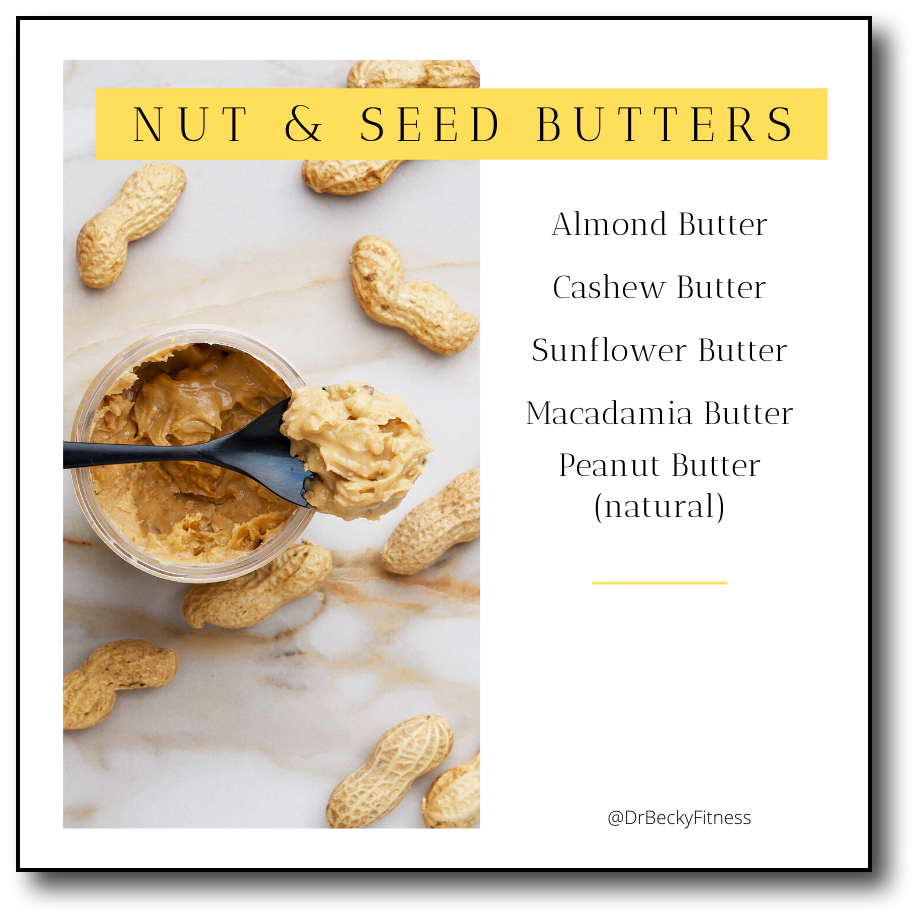 low carb food list: Nut and Seed Butters