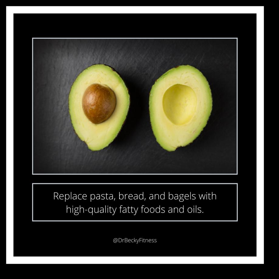 Eat high-quality fatty foods like avocados