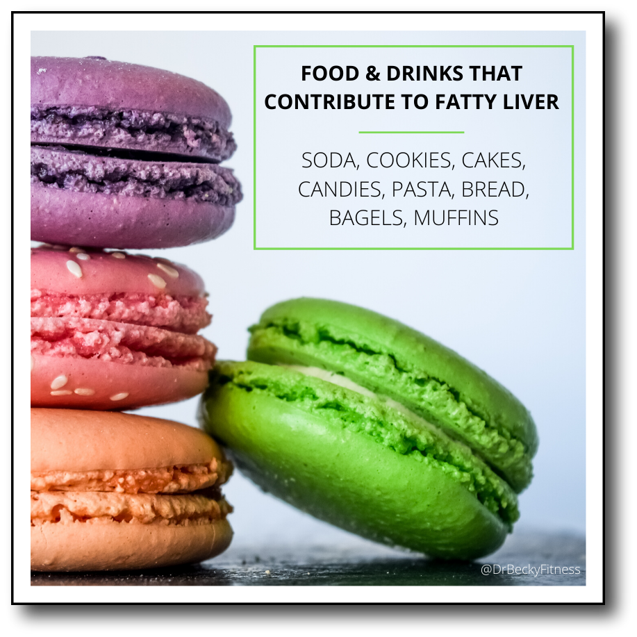 foods and drinks that contribute to fatty liver