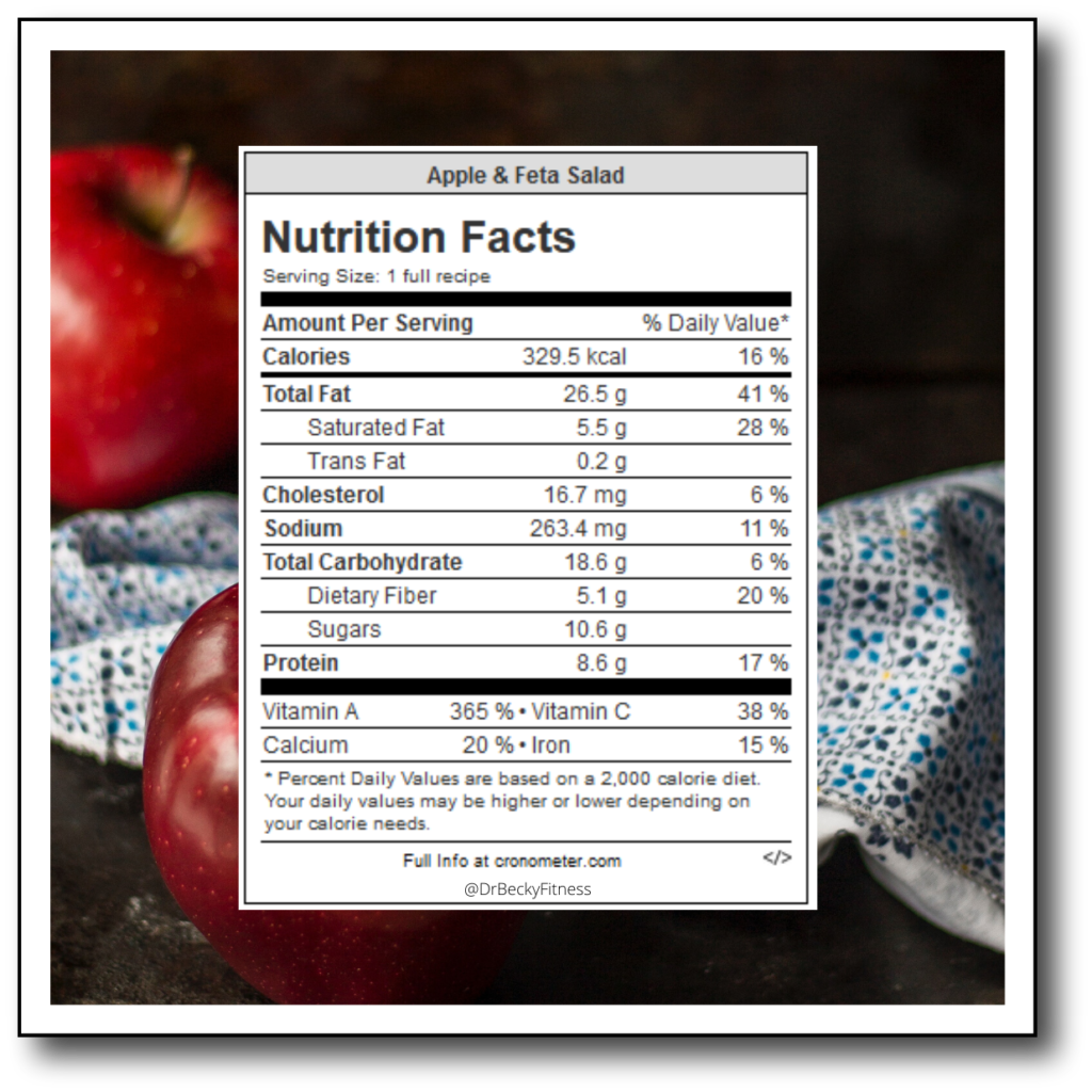 Apple and Feta Salad Nutrition Facts