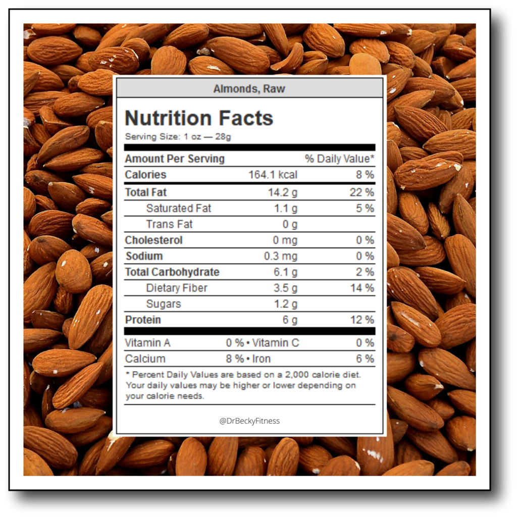 Raw Almonds Nutrition Facts