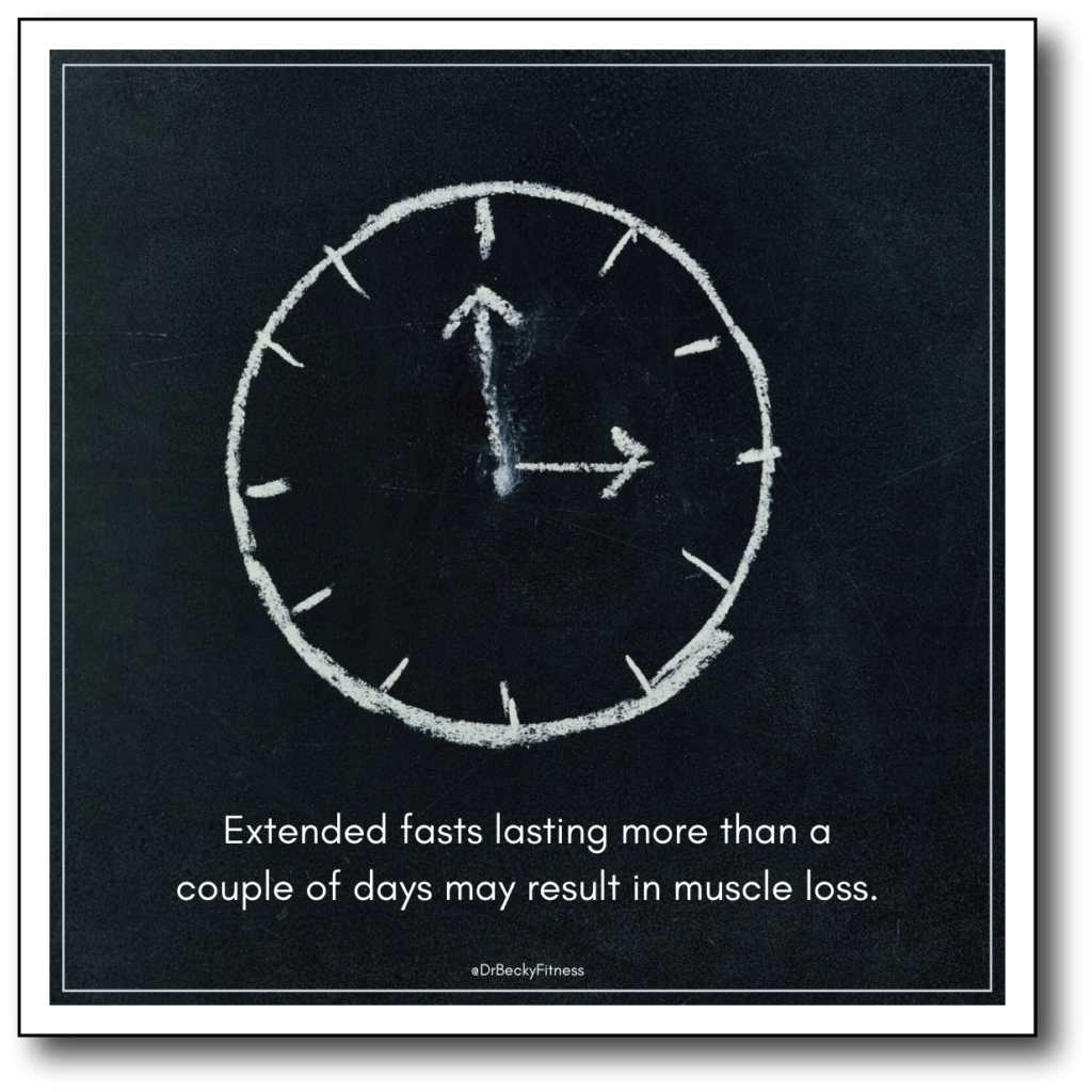 extended fasts and exericse