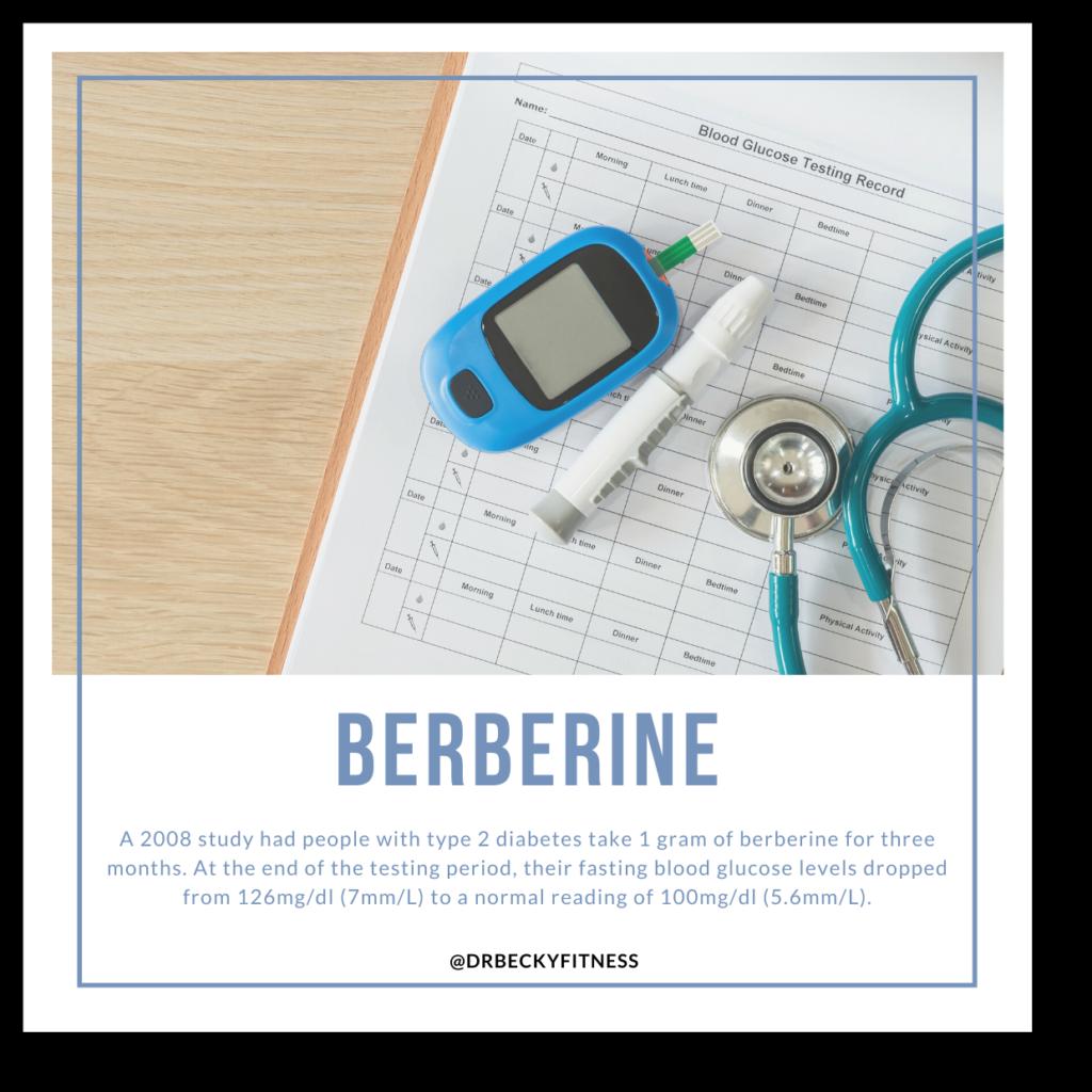 berberine to lower blood sugar