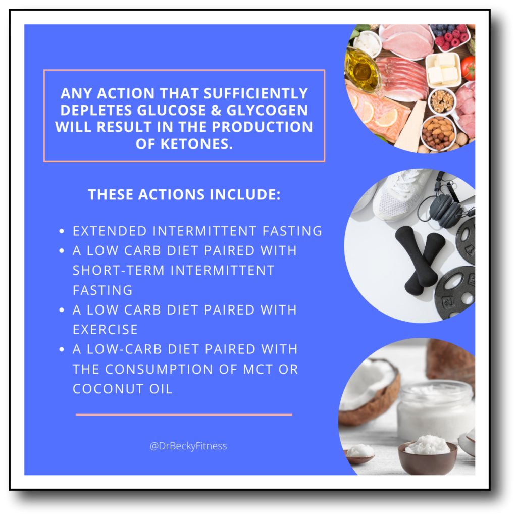 Actions that sufficiently deplete glucose and glycogen.