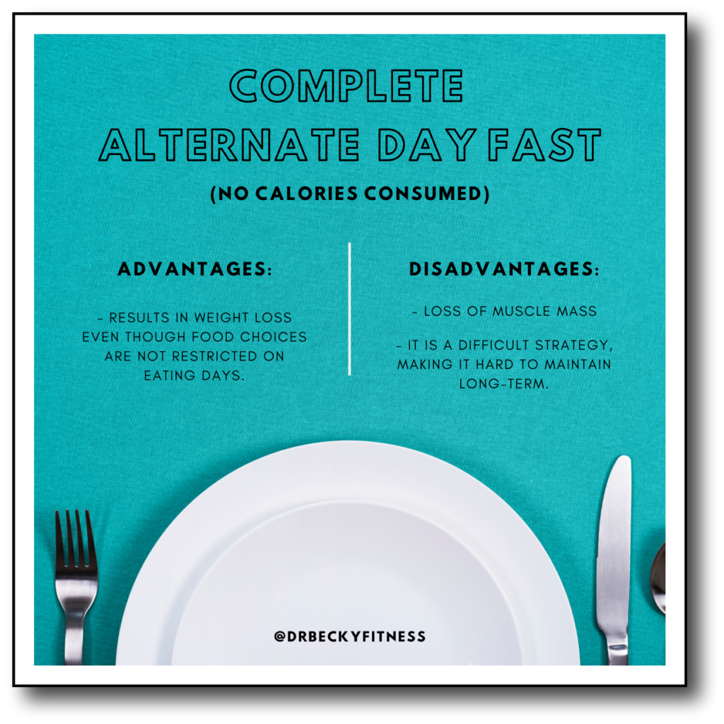 complete alternate day fast