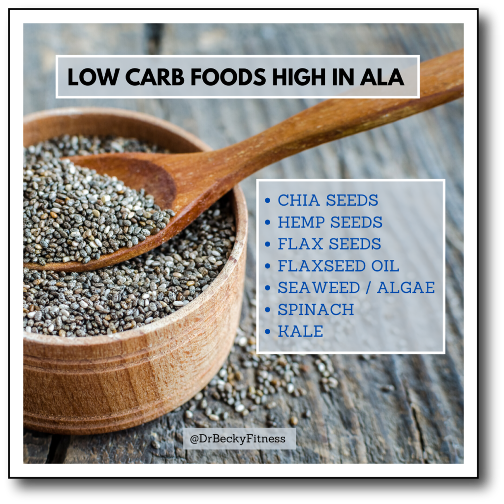 low carb foods high in ala