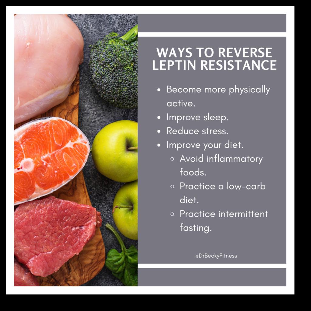 ways to reverse leptin resistance