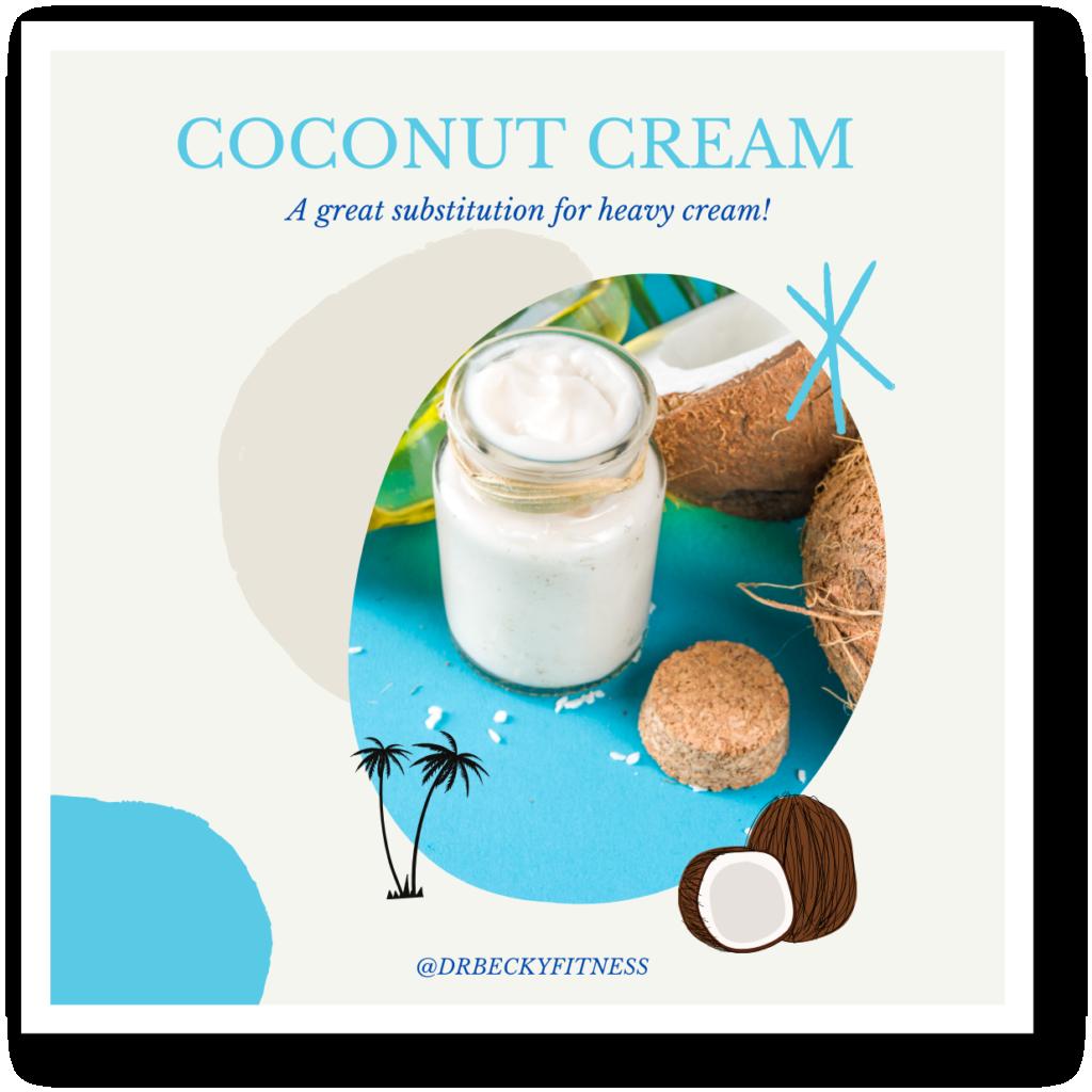 Coconut cream dairy alternative