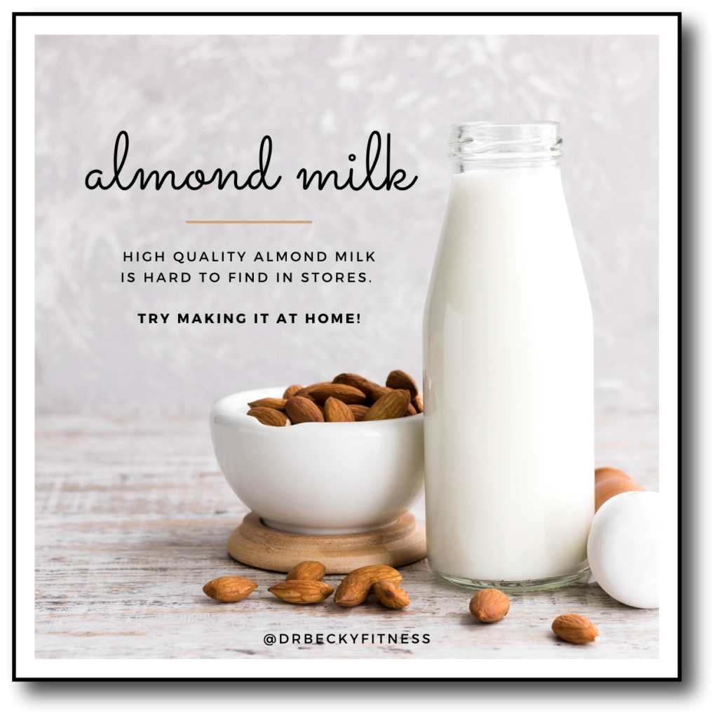 almond milk is a dairy free swap