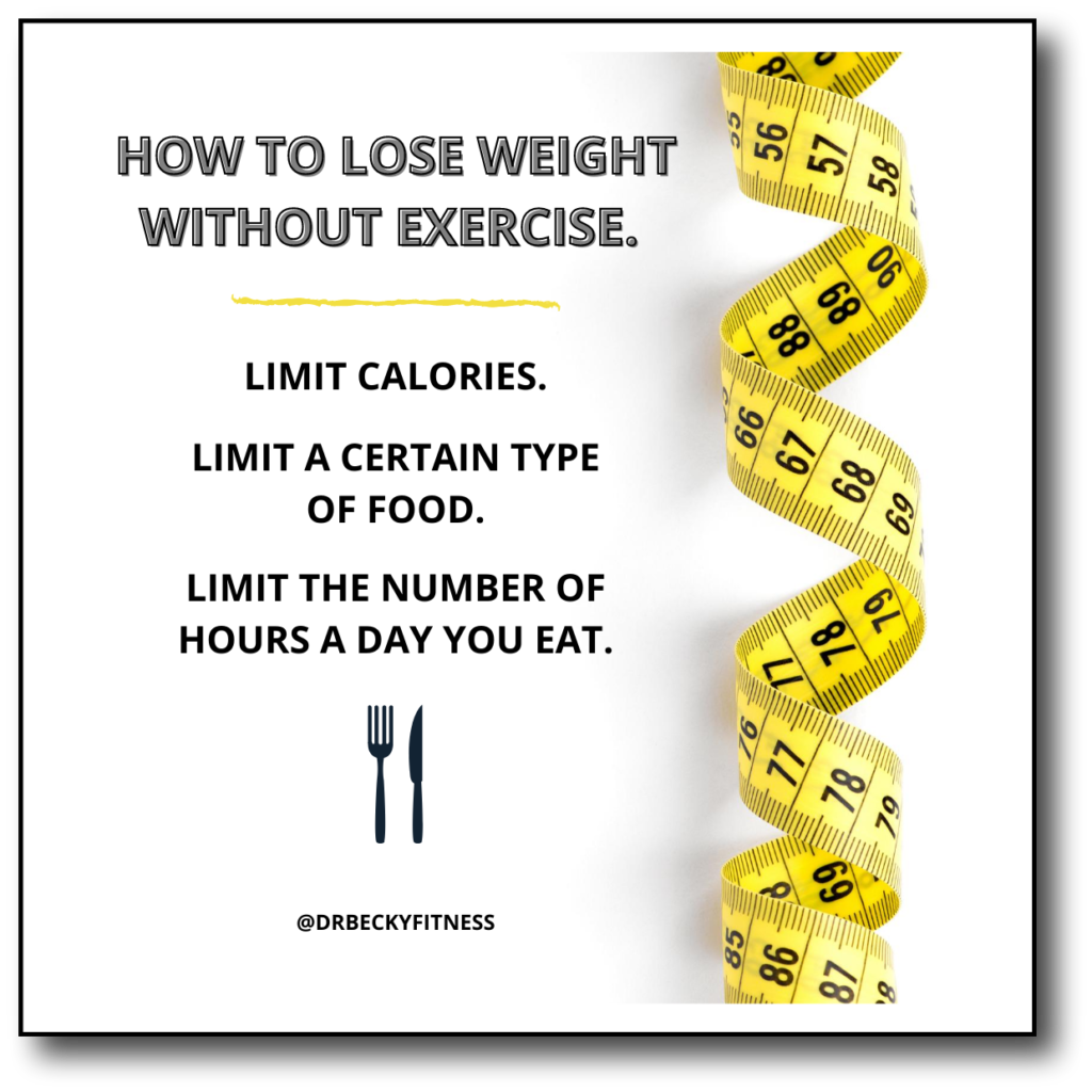 lose weight without exercise