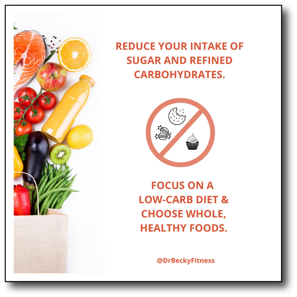 reduce your intake of sugar and refined carbs