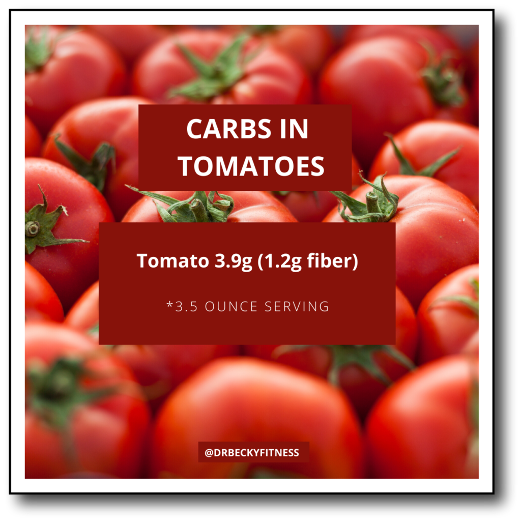 Carbs in Tomatoes (Technically a fruit)