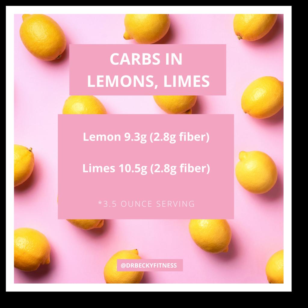 Carbs in Lemons, Limes