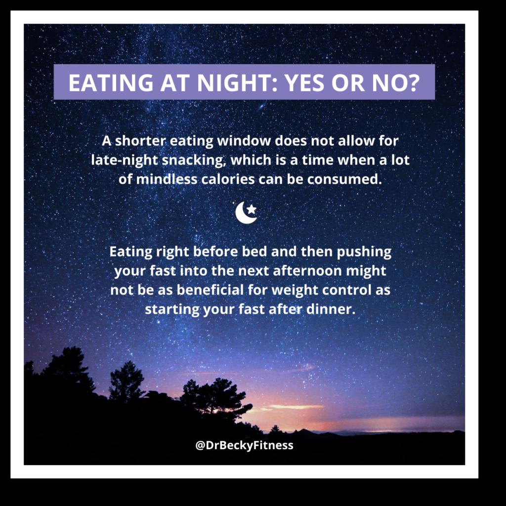Eating at night: yes or no?