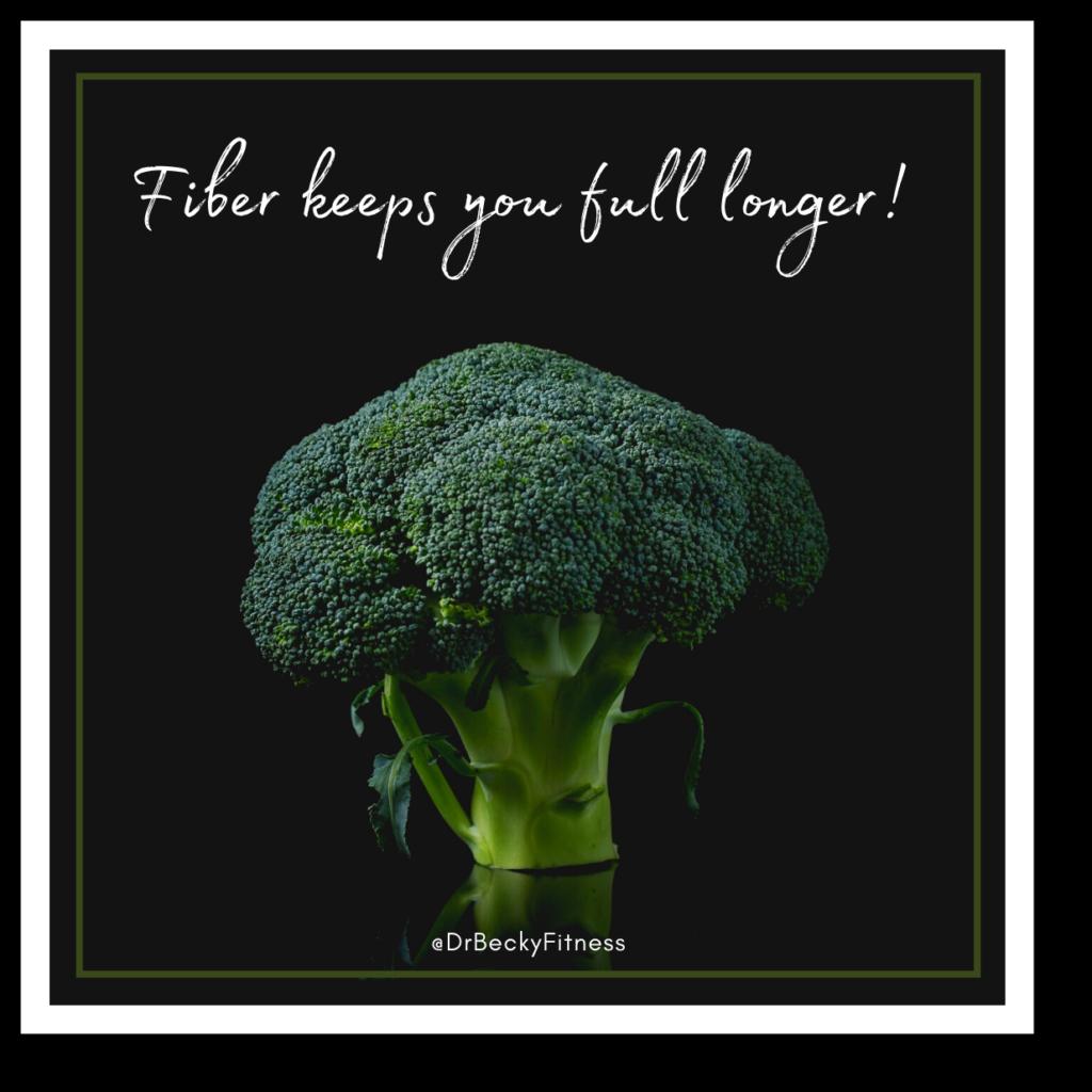 fiber keeps you full longer