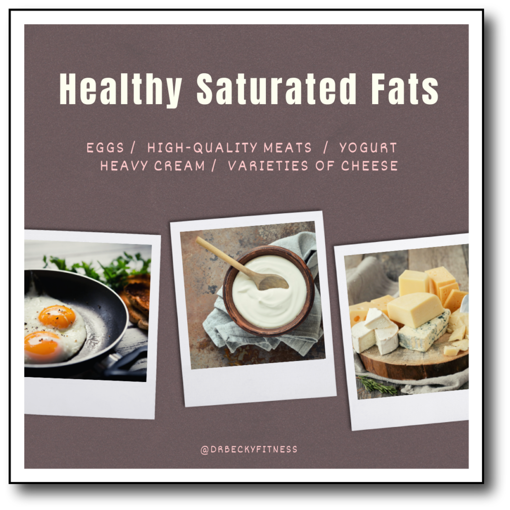 Healthy Saturated Fats