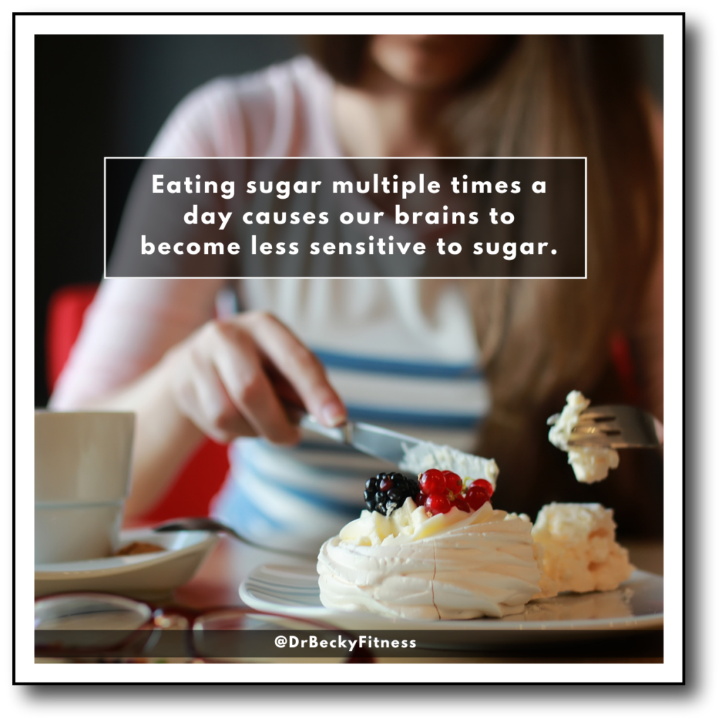 why we are less sensitive to sugar