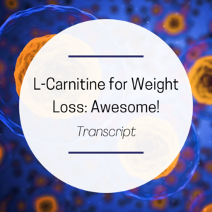 L carnitine for weight loss - feature picture