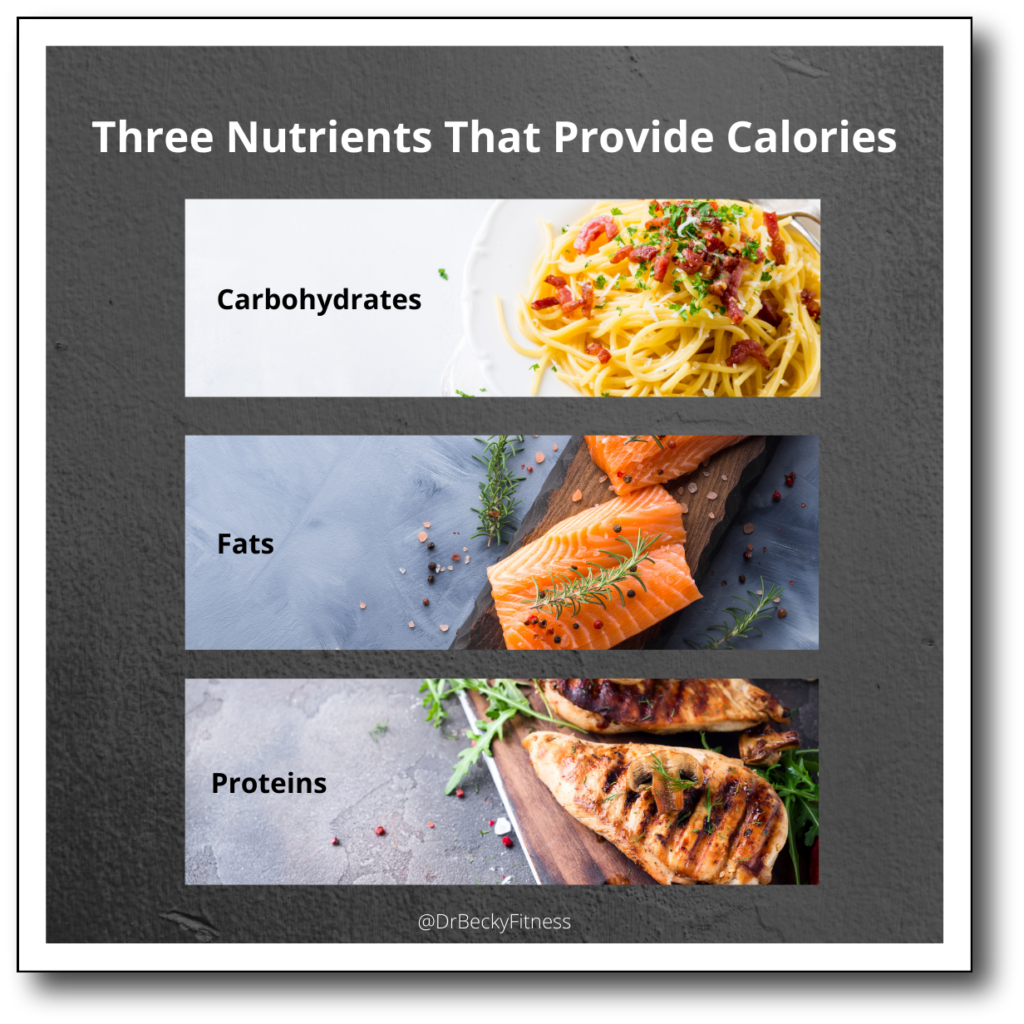 Three Nutrients that Provide Calories