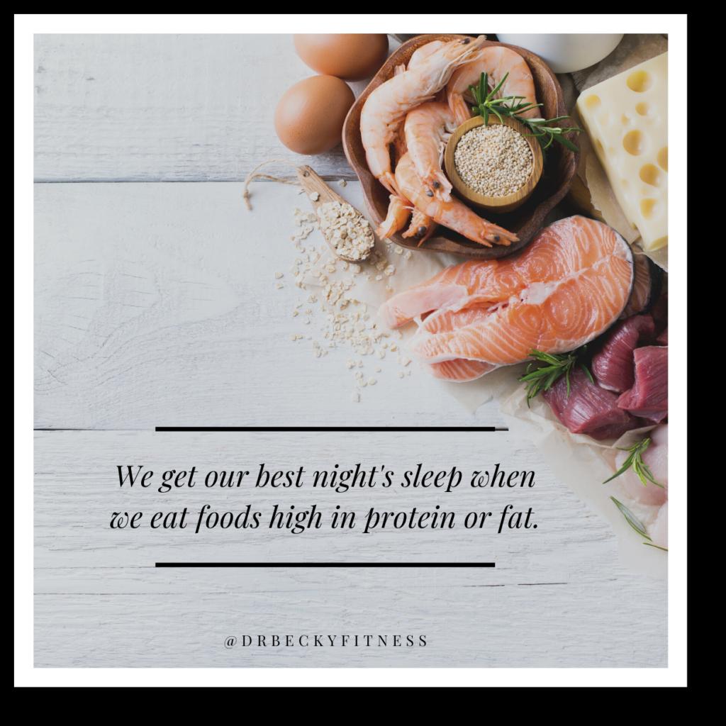 eat a high protein, high fat diet
