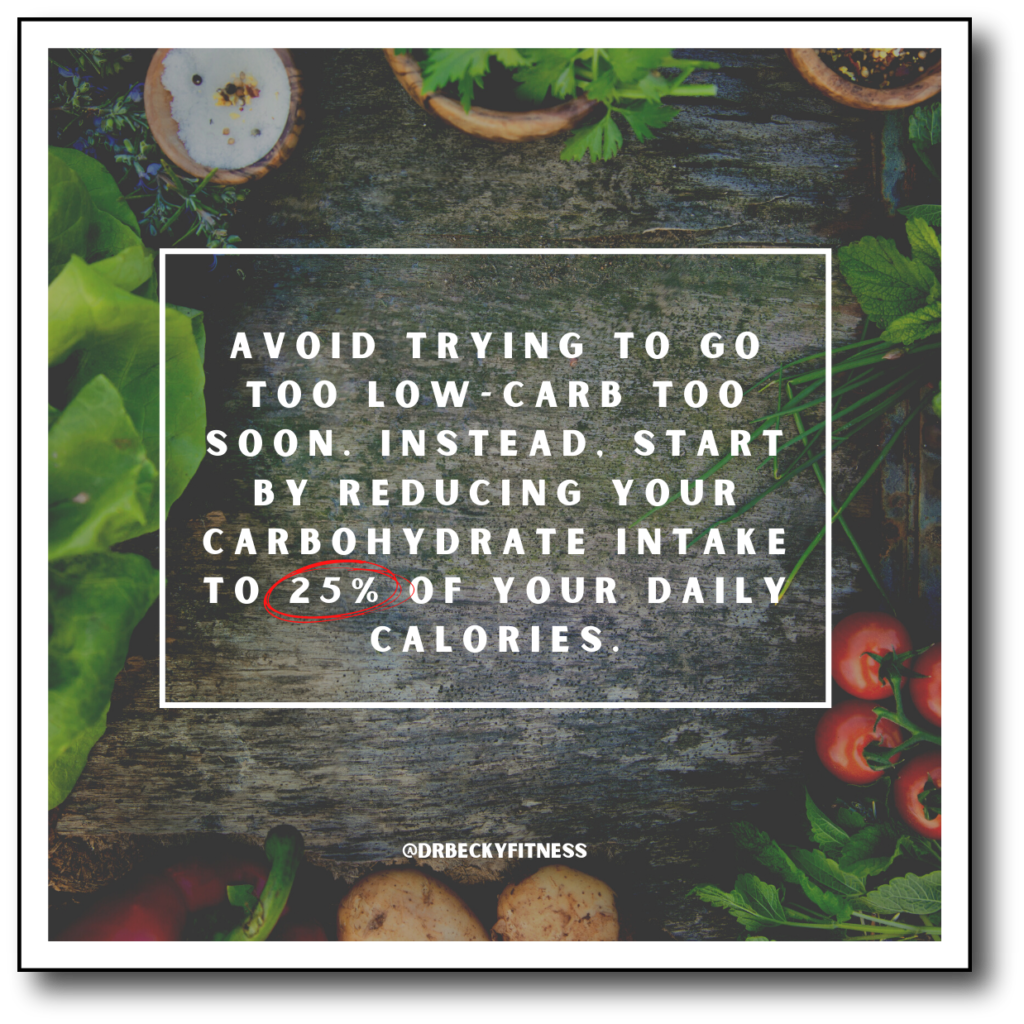 avoid trying too low too soon when starting low carb
