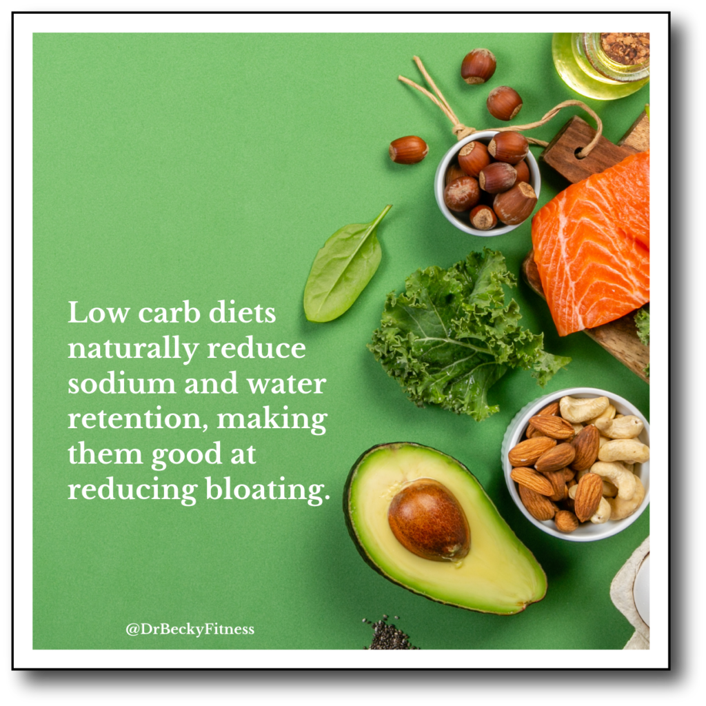 low carb diets naturally reduce bloating