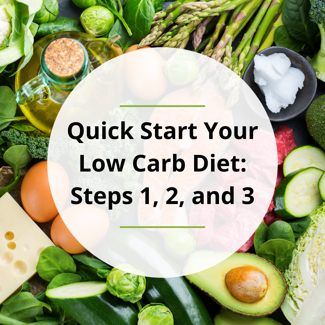 Quick Start Your Low Carb Diet: Steps 1, 2, and 3