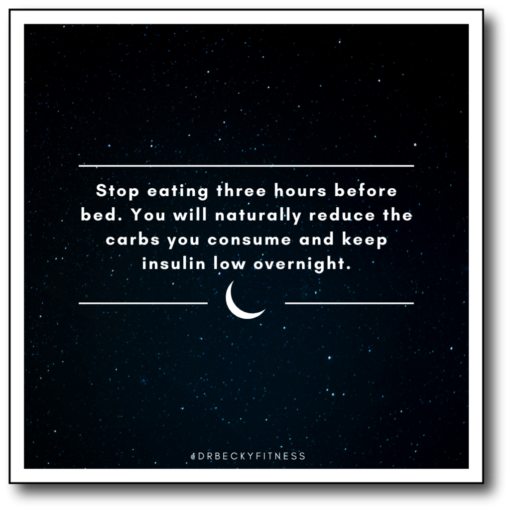stop eating three hours before bed